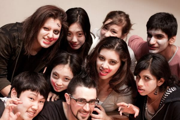 Working with international high school students on a short devised play at the annual Kanto Plains Drama Festival.